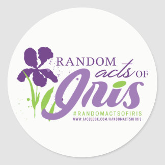 Random Acts of Iris Circle Sticker