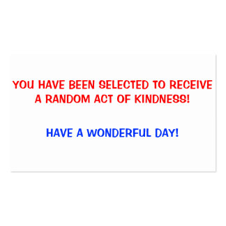 Random Acts of Kindness Cards Pack Of Standard Business Cards