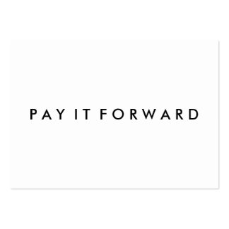 Random Acts of Kindness Pay It Forward Card Pack Of Chubby Business Cards