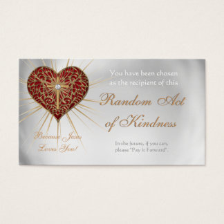 Random Acts of Kindness Personal wallet cards -
