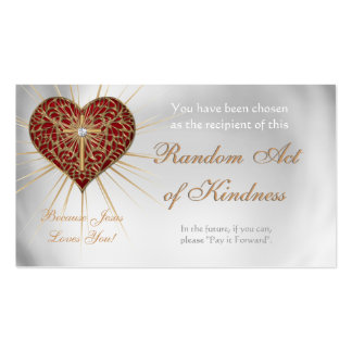 Random Acts of Kindness Personal wallet cards - Pack Of Standard Business Cards