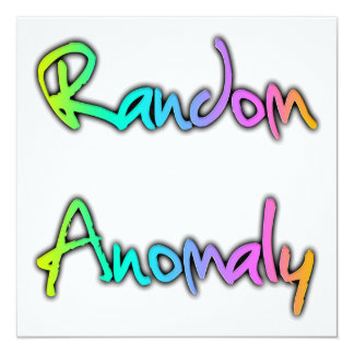 Random Anomaly Rainbow 13 Cm X 13 Cm Square Invitation Card