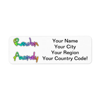 Random Anomaly Rainbow Return Address Label