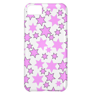 Random Bright Pink Stars iPhone 5C Cases