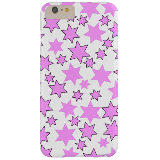 Random Bright Pink Stars Barely There iPhone 6 Plus Case
