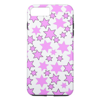 Random Bright Pink Stars iPhone 7 Plus Case