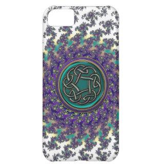 Random Celtic Knot on Spiral Fractal Case iPhone 5C Case
