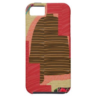 Random Color PATCH ABSTRACT Art on SILKY RED BASE iPhone 5 Cases