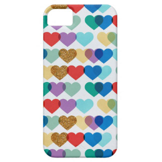 Random Colorful Hearts iPhone 5/5S Covers