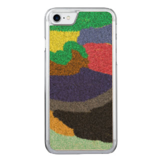 Random colorful pattern carved iPhone 7 case
