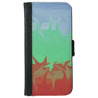 Random colorful pattern iPhone 6 wallet case