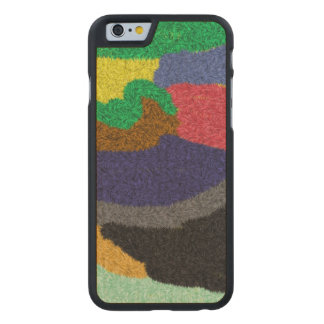 Random colorful pattern carved® maple iPhone 6 slim case
