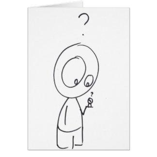 Random Curiosity Cartoon Greeting Card