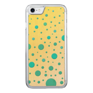 Random Cute Dots Turquoise Yellow Carved iPhone 7 Case