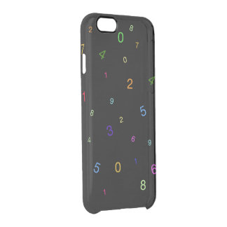 Random Digits Clear iPhone 6/6S Case
