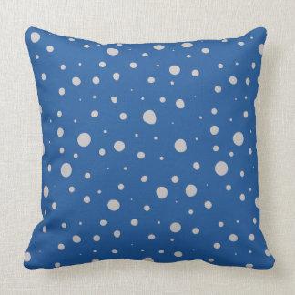 Random Dots China Blue Cushion