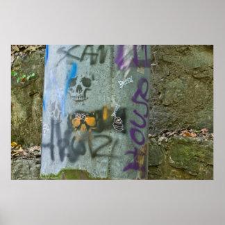 Random Graffiti: Scam Skulls on Pipe Redux Poster