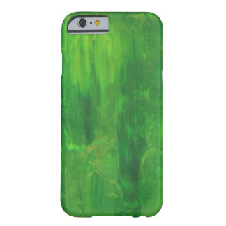 Random Green Abstract Painting Barely There iPhone 6 Case