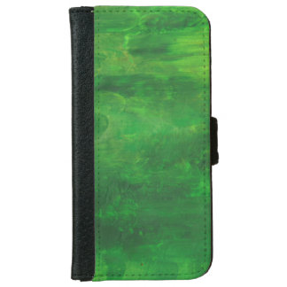 Random Green Abstract Painting iPhone 6 Wallet Case