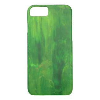 Random Green Abstract Painting iPhone 7 Case