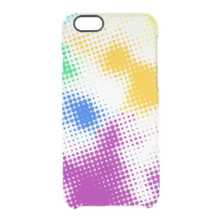 Random halftone colorful background clear iPhone 6/6S case
