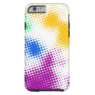 Random halftone colorful background tough iPhone 6 case