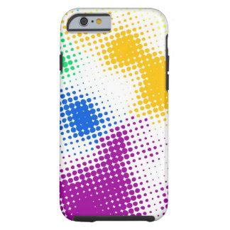 Random halftone colorful background tough iPhone 6 case