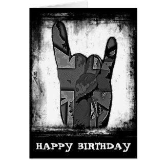 Random Horns Grunge Hard Rock Birthday Card