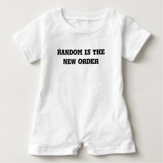 Random is the New Order Text Baby Bodysuit