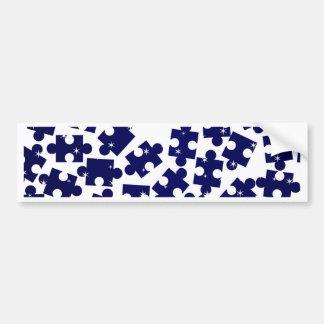 Random Jigsaw Pieces Bumper Sticker