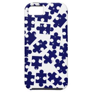 Random Jigsaw Pieces Tough iPhone 5 Case