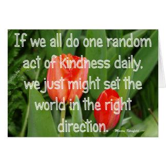 Random Kindness Note Card