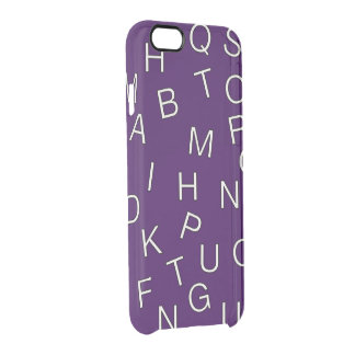 Random Letters Clear iPhone 6/6S Case