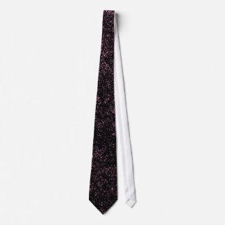 Random lines - Black with Pink on Black Tie