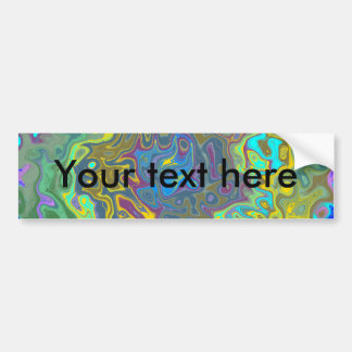 Random multicolored swirling psychedelic vortex bumper stickers