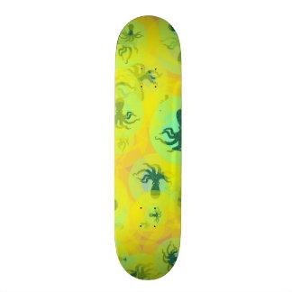 Random octopuses skate board deck