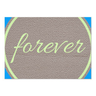 """RANDOM OVERVIEW FRIENDS FOREVER 5"""" X 7"""" INVITATION CARD"""