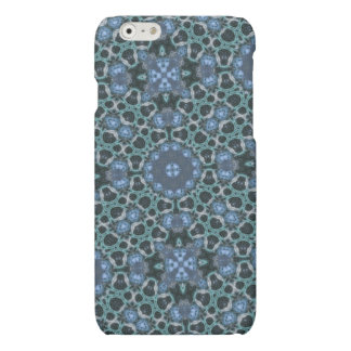 random pattern blue matte iPhone 6 case