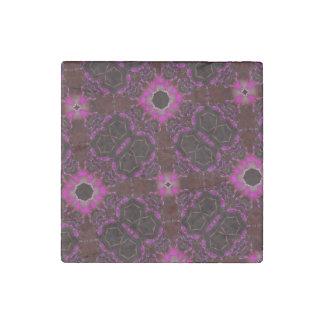 random pattern pink purple stone magnet