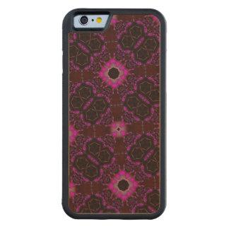 random pattern pink purple maple iPhone 6 bumper case