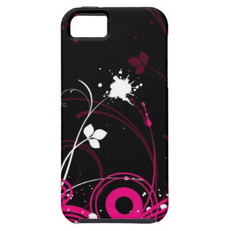 random pink and black abstract design iPhone 5 covers