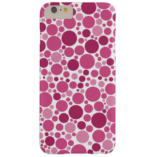 Random Polka Dot Pattern Shades of Pink Barely There iPhone 6 Plus Case