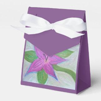 random purle flower favor bag favour box