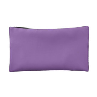 Random Purple Flower Makeup Bag