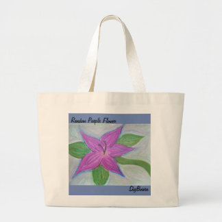random purple flower tote