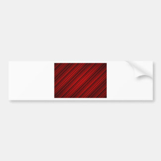 Random Red Diagonal Stripes Pattern Bumper Sticker