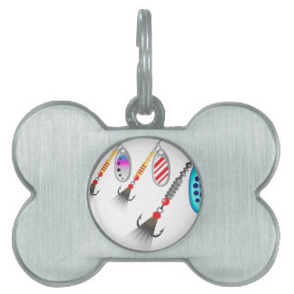 Random set of spinners different colors vector pet tag