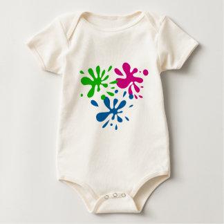 Random Splats Baby Bodysuit