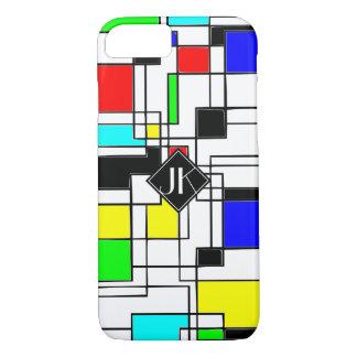 Random Squares Homage To Mondrian iPhone 8/7 Case