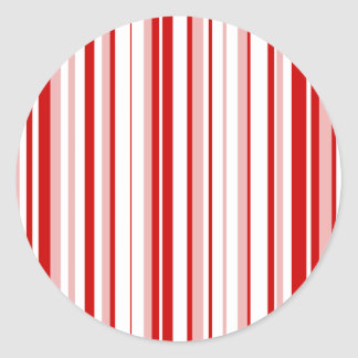 Random Stripes Red + Custom Color Classic Round Sticker